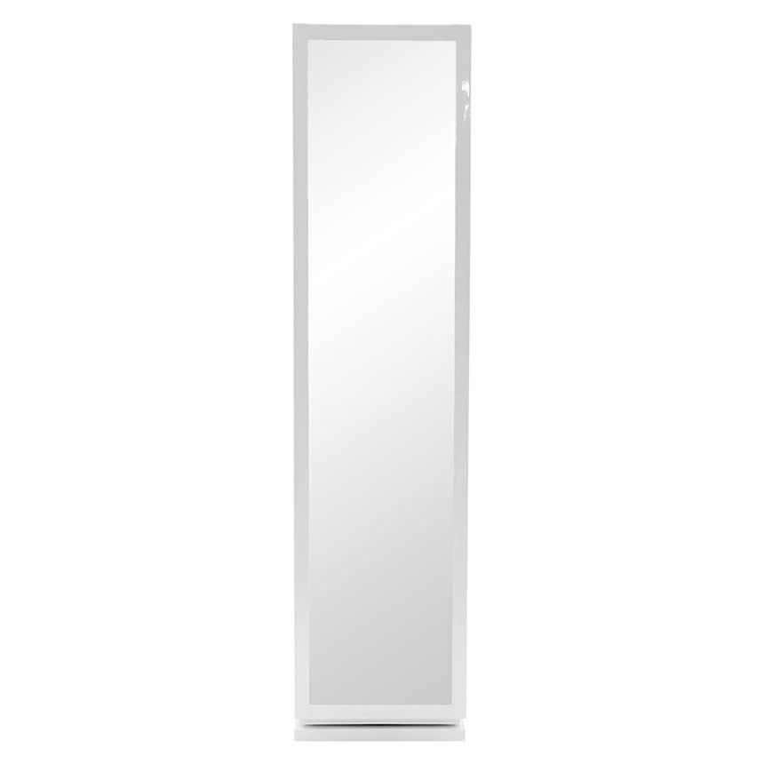 Joshua White Swivel Mirror W/Storage Alternate Image, 2 Of 8 Images.