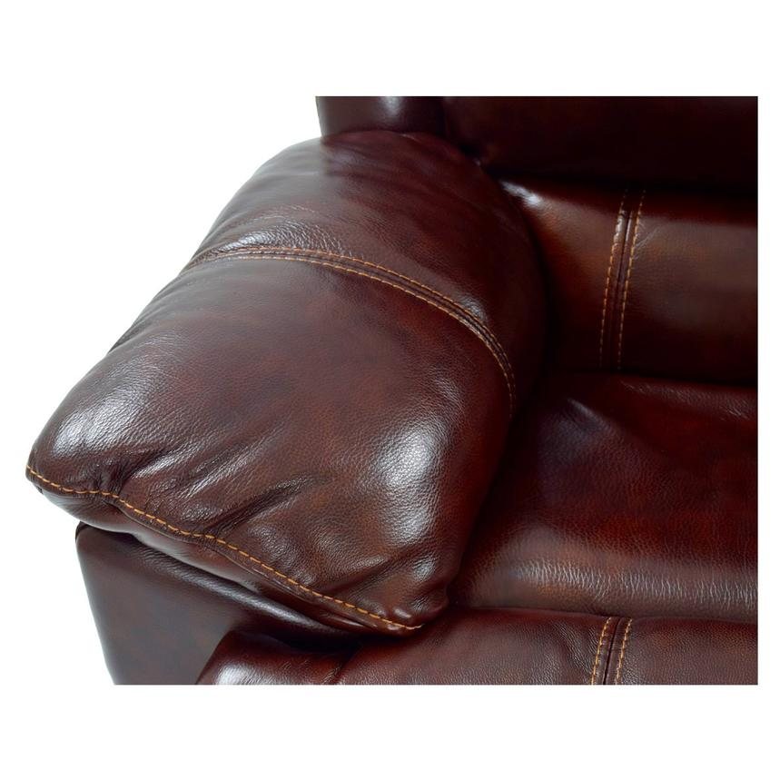 Theodore Burgundy Power Motion Leather Sofa w/Right & Left Recliners  alternate image, 7 of 9 images.