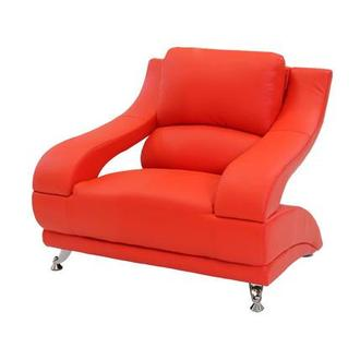 Jedda Red Leather Chair