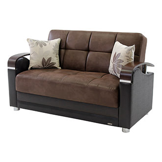 peron chocolate futon loveseat peron chocolate futon sofa   el dorado furniture  rh   eldoradofurniture