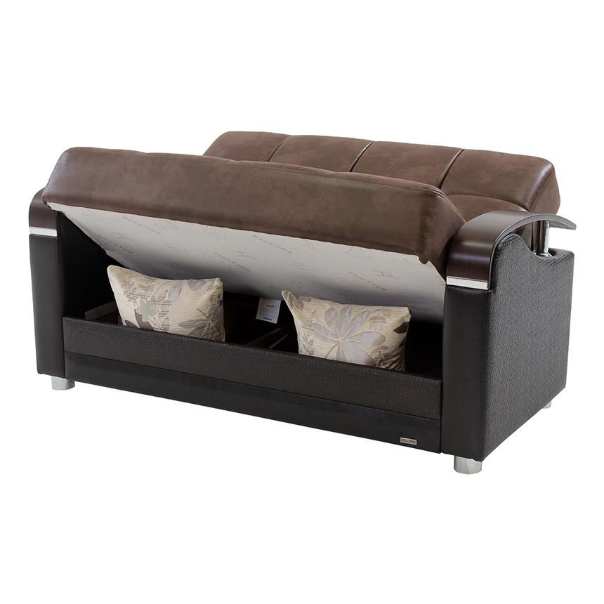 peron chocolate futon loveseat alternate image 2 of 9 images  peron chocolate futon loveseat   el dorado furniture  rh   eldoradofurniture