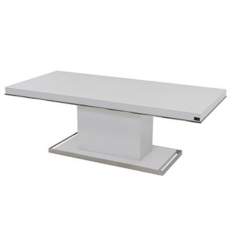 Cecilia White Rectangular Dining Table