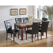 Achillea Brown 5-Piece Casual Dining Set  alternate image, 4 of 9 images.