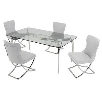 Opera/Amanda White 5-Piece Formal Dining Set