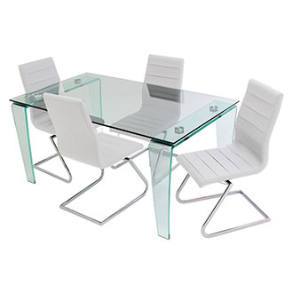 Vera/Janet White 5-Piece Casual Dining Set