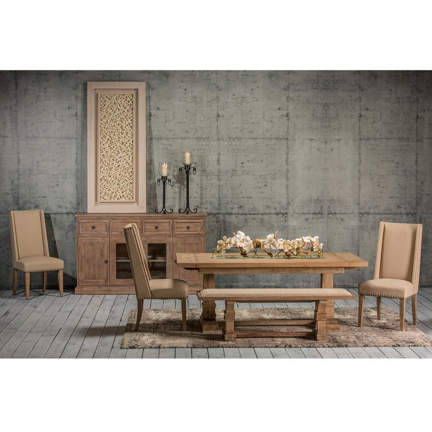 Hudson Cream 5-Piece Formal Dining Set  alternate image, 2 of 13 images.