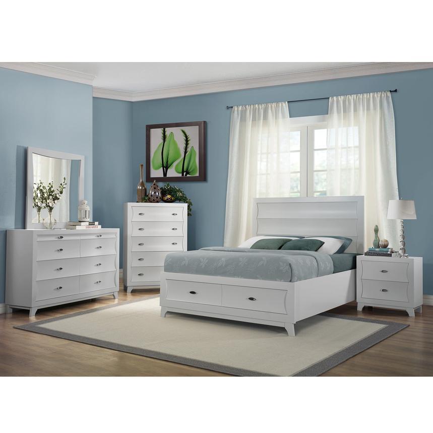 Whiteaker White Queen Storage Bed El Dorado Furniture