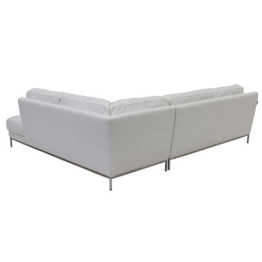 Cantrall White Sofa w/Right Chaise  alternate image, 3 of 6 images.