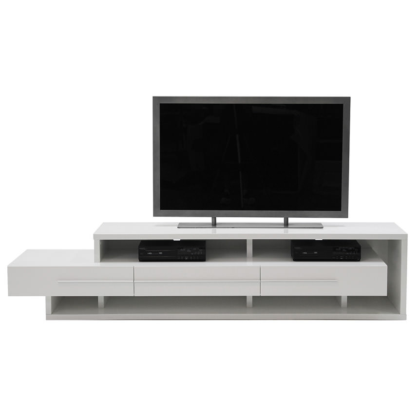 Avanti White TV Stand  alternate image, 3 of 6 images.