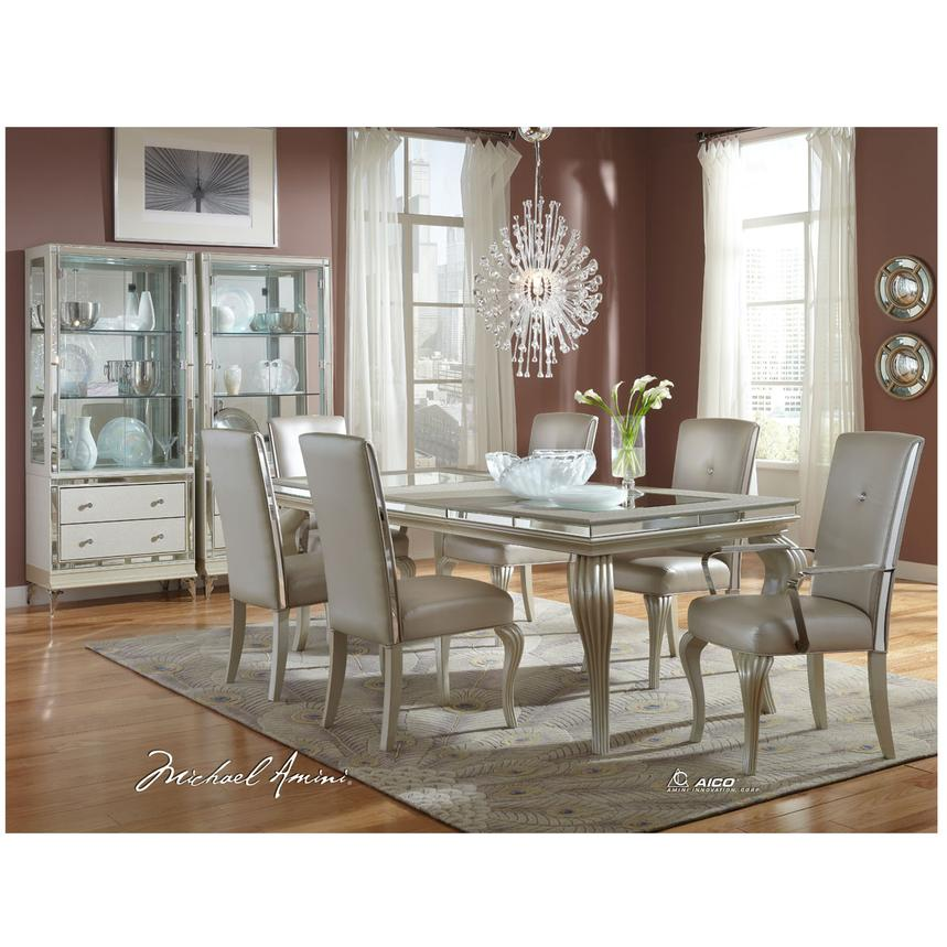 Hollywood Loft Frost 5 Piece Formal Dining Set Alternate Image 2 Of 12 Images
