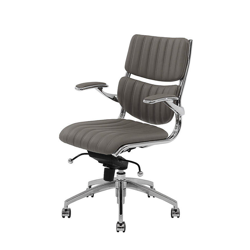 Bell Gray Low Back Desk Chair Alternate Image 2 Of 8 Images