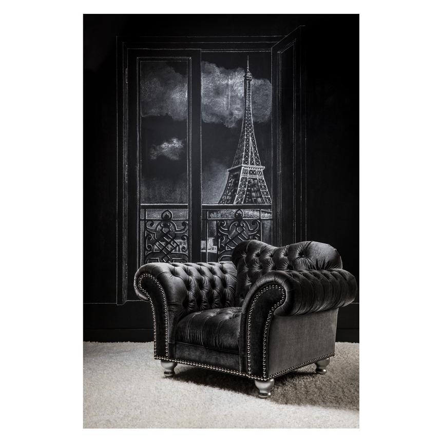 Laura Dark Gray Chair U0026 Half Alternate Image, 2 Of 7 Images.