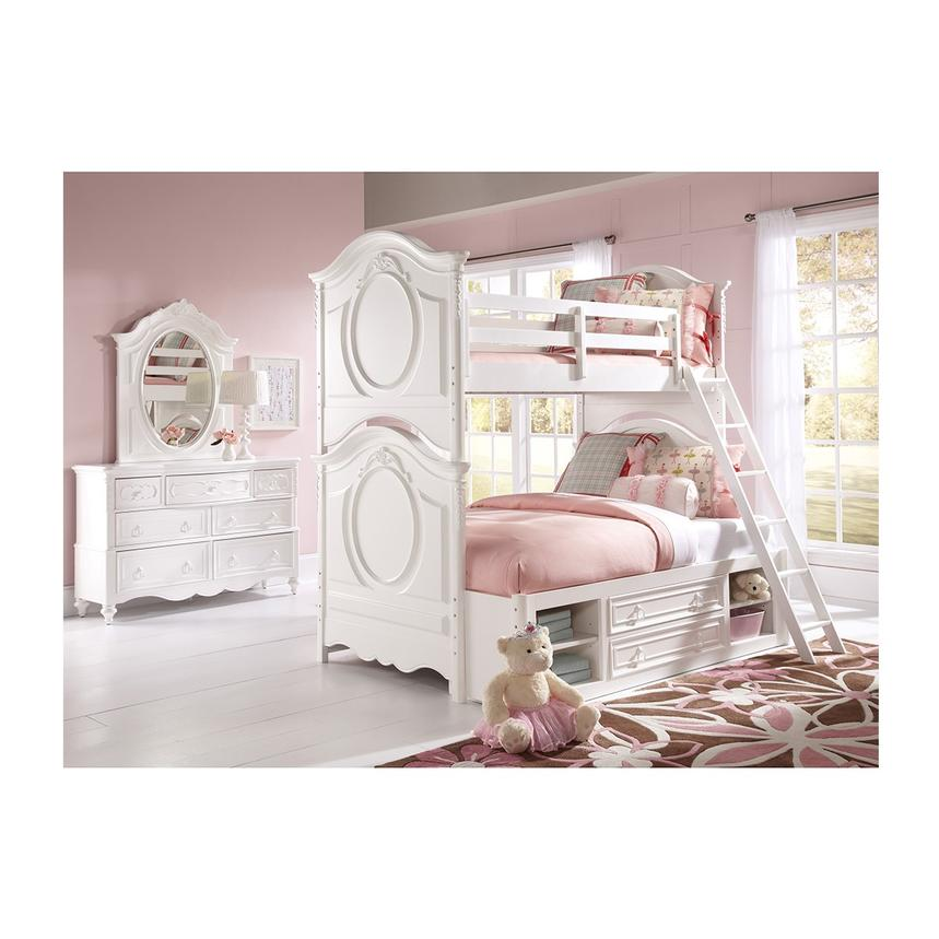Sweet Pea White Twin Over Full Bunk Bed  alternate image, 2 of 7 images.