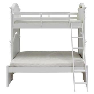 Sweet Pea White Twin Over Full Bunk Bed