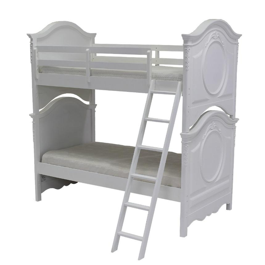 Sweet Pea White Twin Over Twin Bunk Bed  alternate image, 2 of 6 images.