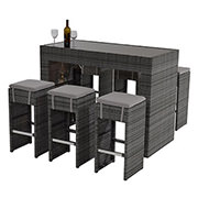 Neilina Gray 7-Piece Patio Set  main image, 1 of 8 images.