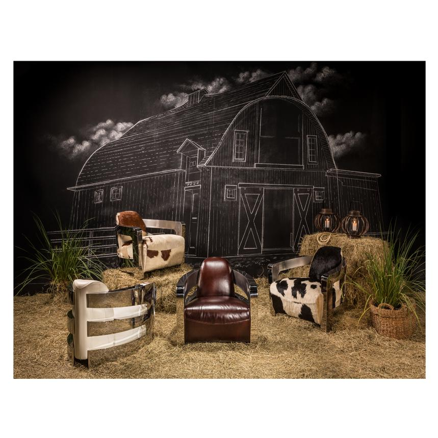Aviator Cowhide Leather Accent Chair Alternate Image, 2 Of 7 Images.