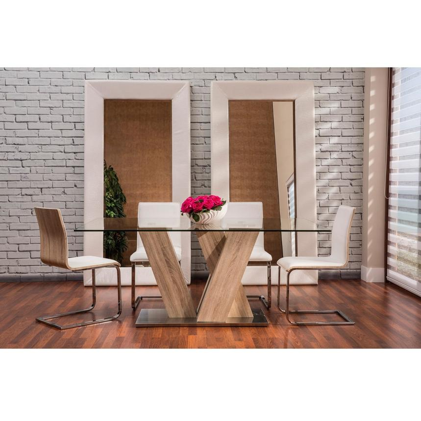 Solimar White 5 Piece Casual Dining Set Alternate Image, 2 Of 12 Images.