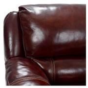 Theodore Burgundy Power Motion Leather Sofa w/Right & Left Recliners  alternate image, 5 of 8 images.