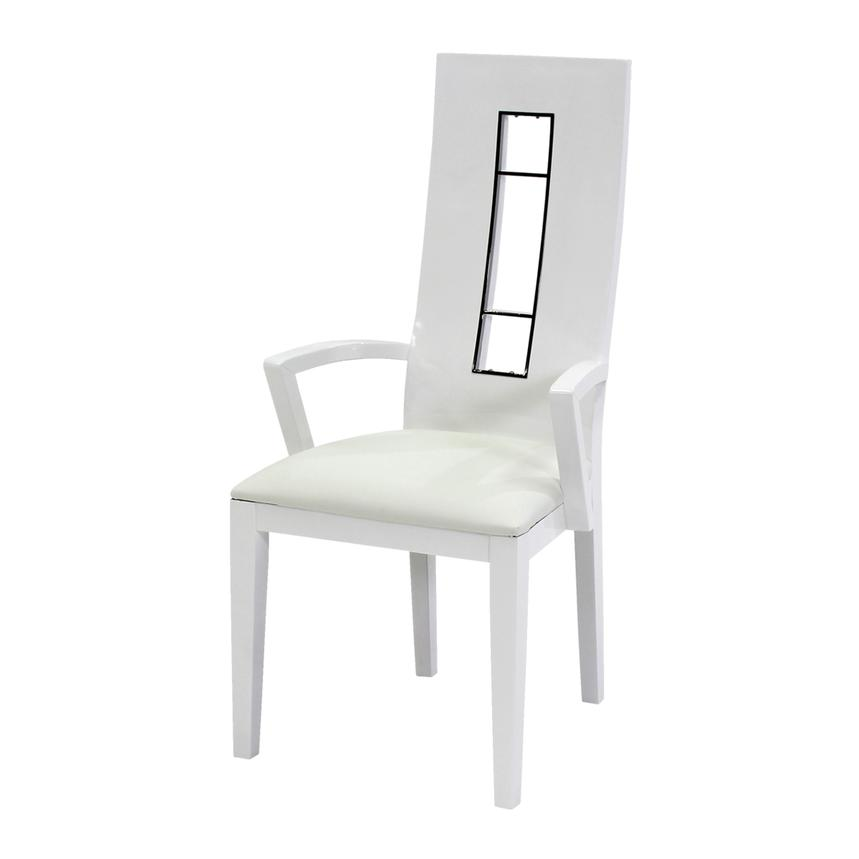 Novo White Arm Chair  alternate image, 2 of 5 images.