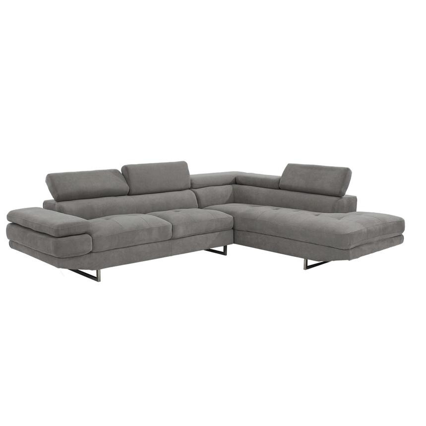 Taheri Gray Sofa w/Right Chaise  alternate image, 2 of 8 images.