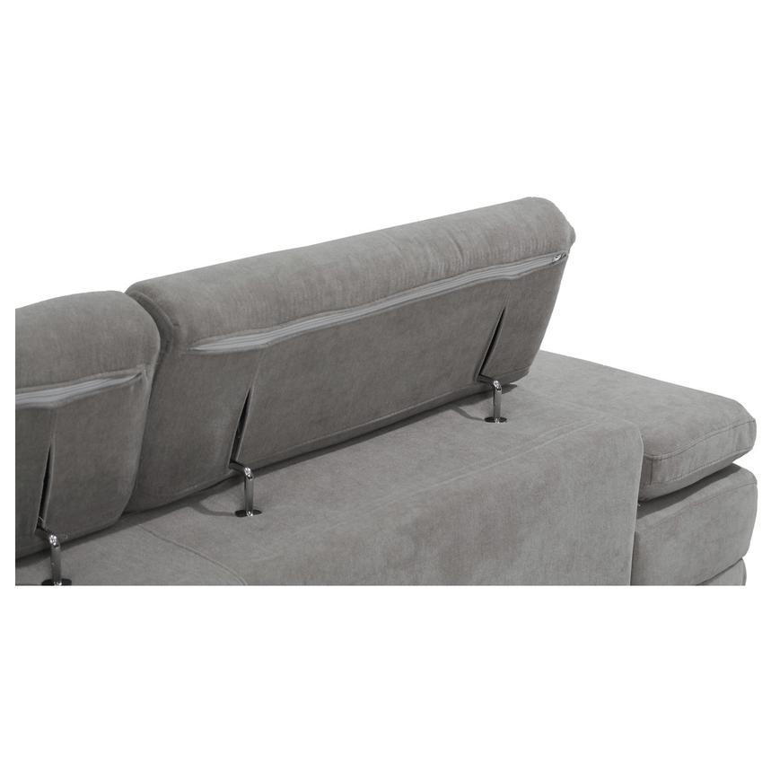 Taheri Gray Sofa w/Right Chaise  alternate image, 7 of 8 images.