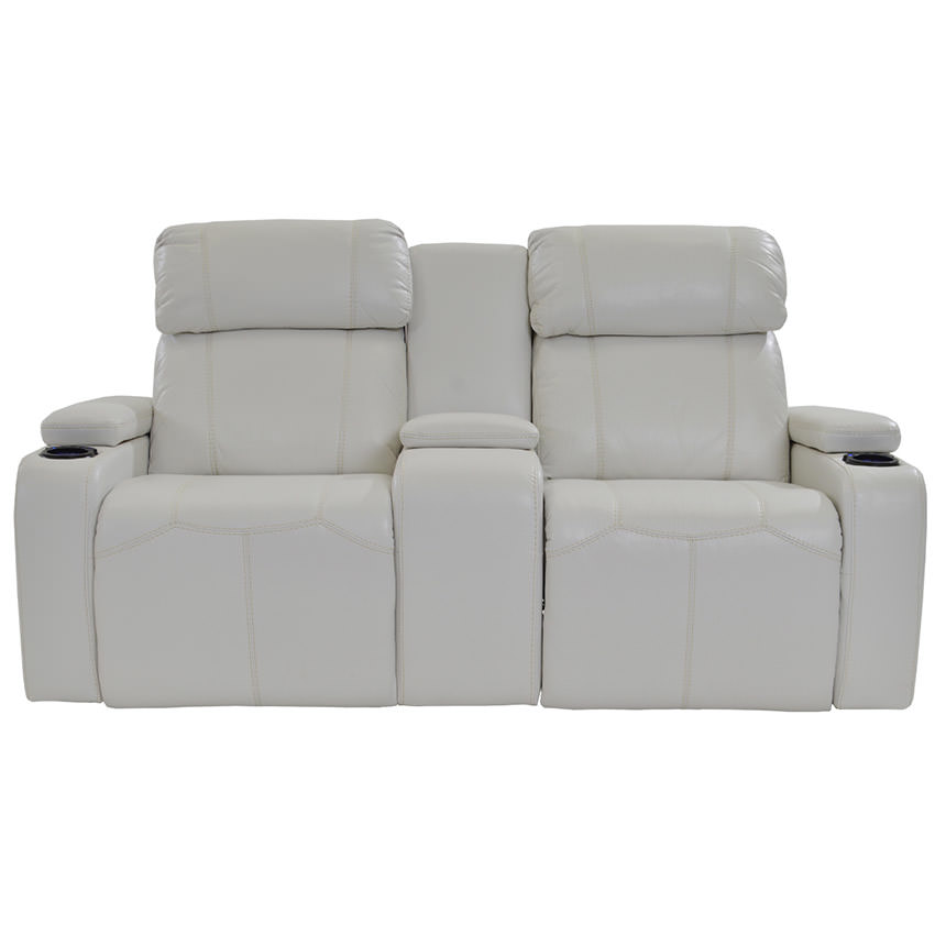 Magnetron White Power Motion Sofa w/Console  alternate image, 2 of 9 images.