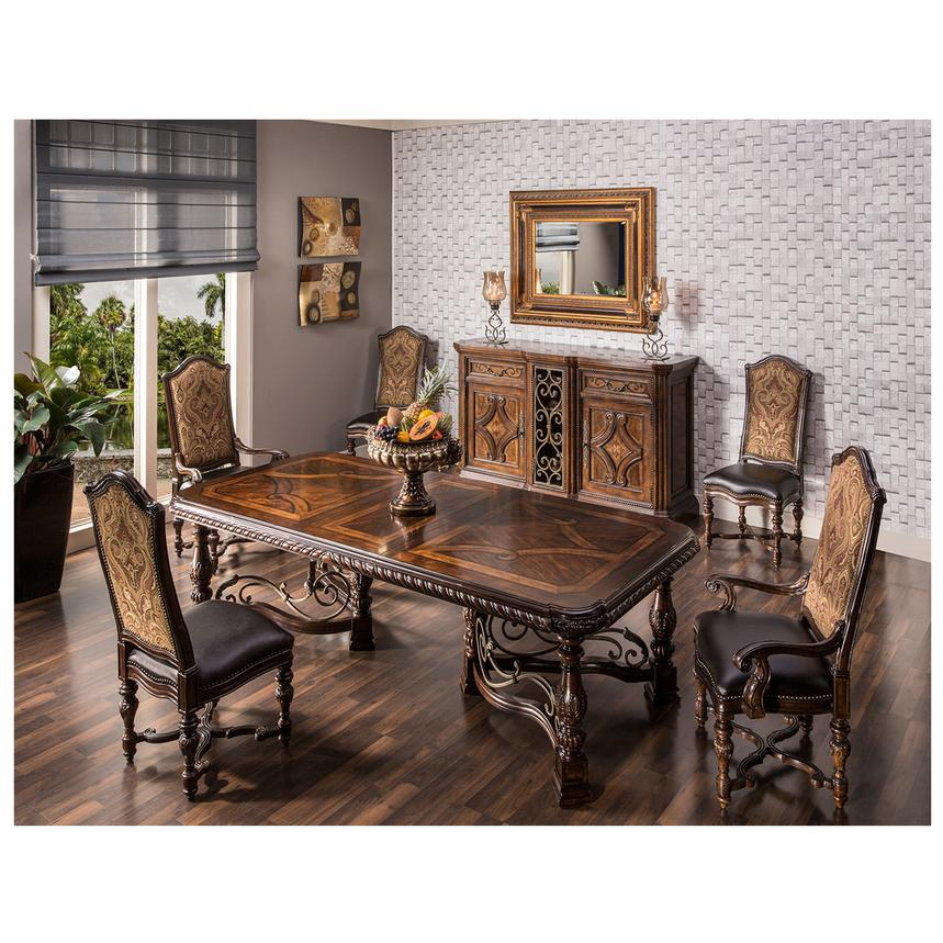 Opulent 5 Piece Formal Dining Set Alternate Image, 2 Of 15 Images.