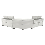 Davis White Power Motion Leather Sofa w/Right & Left Recliners  alternate image, 3 of 10 images.