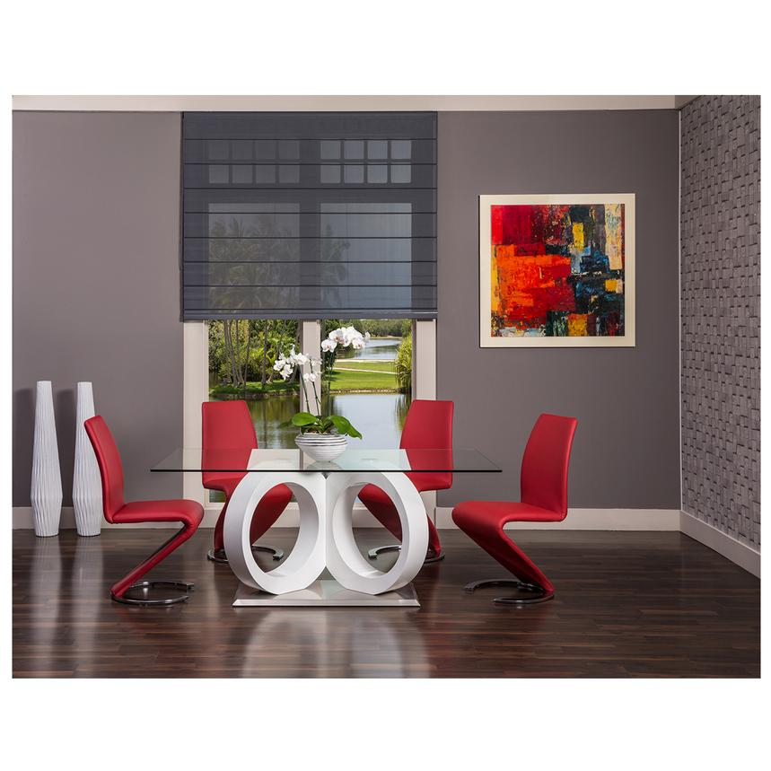 Attirant Stop 36 Red 5 Piece Formal Dining Set Alternate Image, 2 Of 11 Images