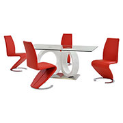Stop 36 Red 5-Piece Formal Dining Set  main image, 1 of 11 images.