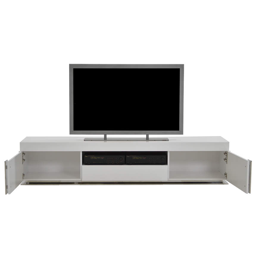 Grand Night White Gloss TV Stand  alternate image, 2 of 6 images.