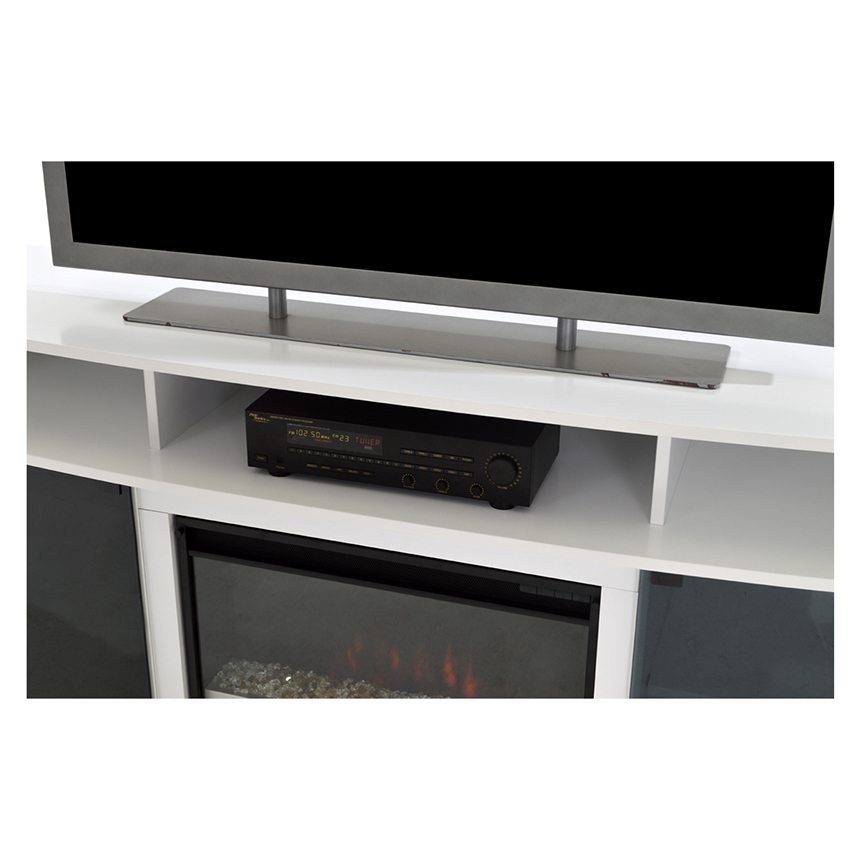 Enterprise White Faux Fireplace w/Remote Control  alternate image, 3 of 6 images.