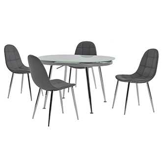 Clotus Gray 5-Piece Casual Dining Set