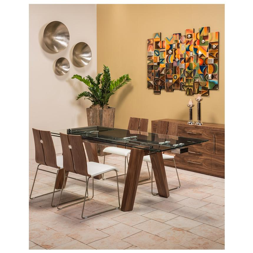 Valencia Brown Extendable Dining Table Alternate Image, 2 Of 9 Images.