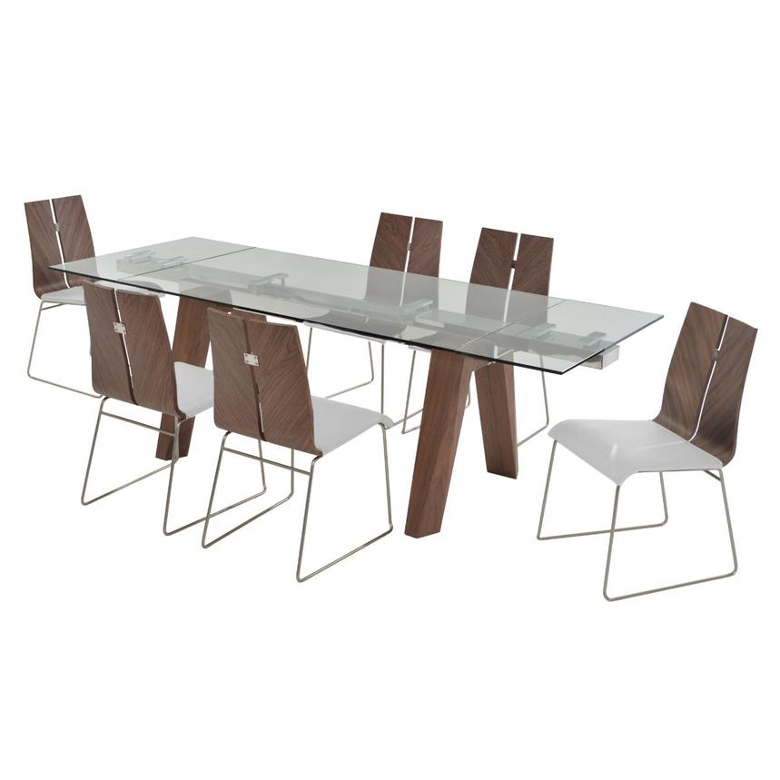Valencia Brown/White 5-Piece Formal Dining Set  alternate image, 3 of 14 images.