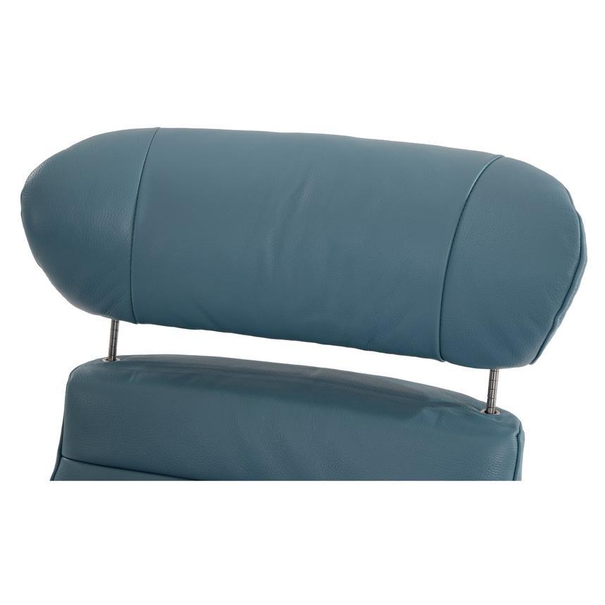 Enzo Blue Leather Swivel Chair El Dorado Furniture