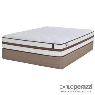 Alessandria Queen Mattress Set w/Regular Foundation by Carlo Perazzi