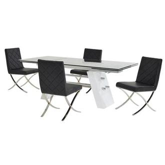 Slide Black 5-Piece Formal Dining Set