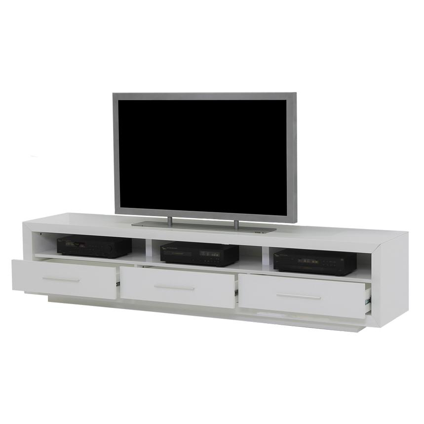 Contour White TV Stand  alternate image, 3 of 7 images.