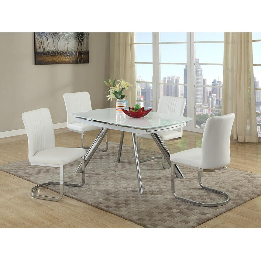 Alina White 5 Piece Casual Dining Set Alternate Image, 2 Of 9 Images.