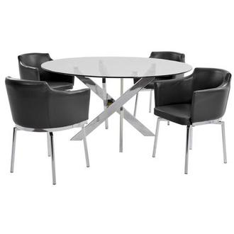 Dusty Black 5-Piece Casual Dining Set