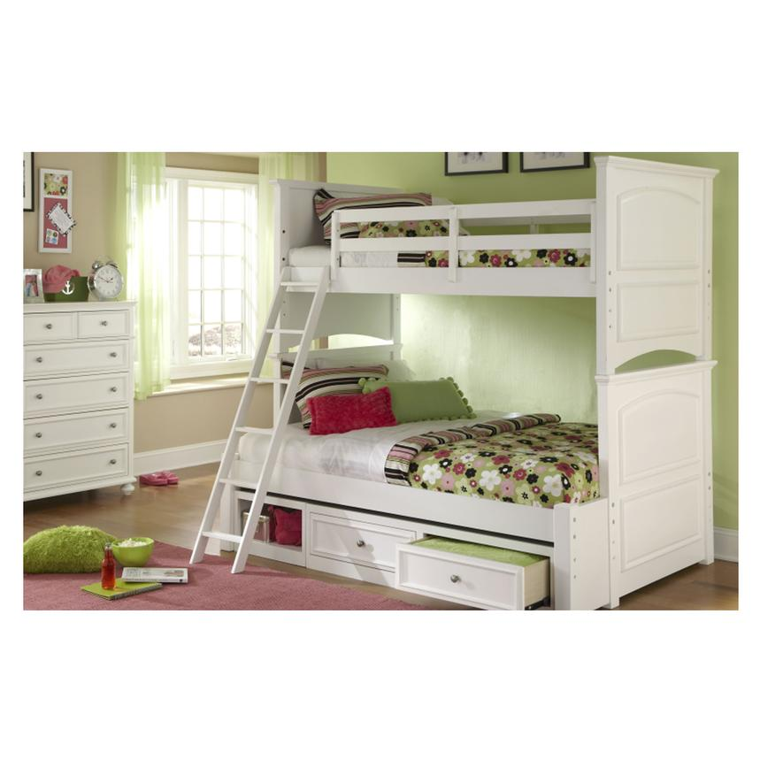 Kailee White Twin Over Full Bunk Bed Alternate Image 2 Of 8 Images