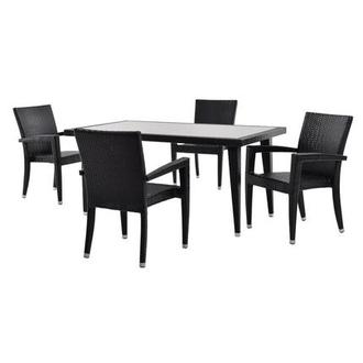 Neilina Black 5-Piece Patio Set
