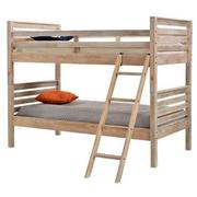 Montauk Natural Twin Over Twin Bunk Bed Made in Brazil  main image, 1 of 7 images.