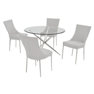 Patricia White 5-Piece Casual Dining Set