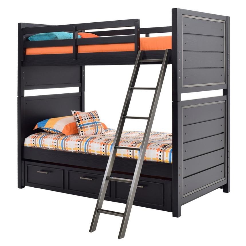 Graphite Twin Over Twin Bunk Bed  alternate image, 3 of 8 images.