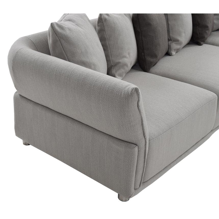 Alonzo Gray Sofa w/Ottoman  alternate image, 3 of 6 images.