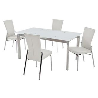 Tara White 5-Piece Formal Dining Set