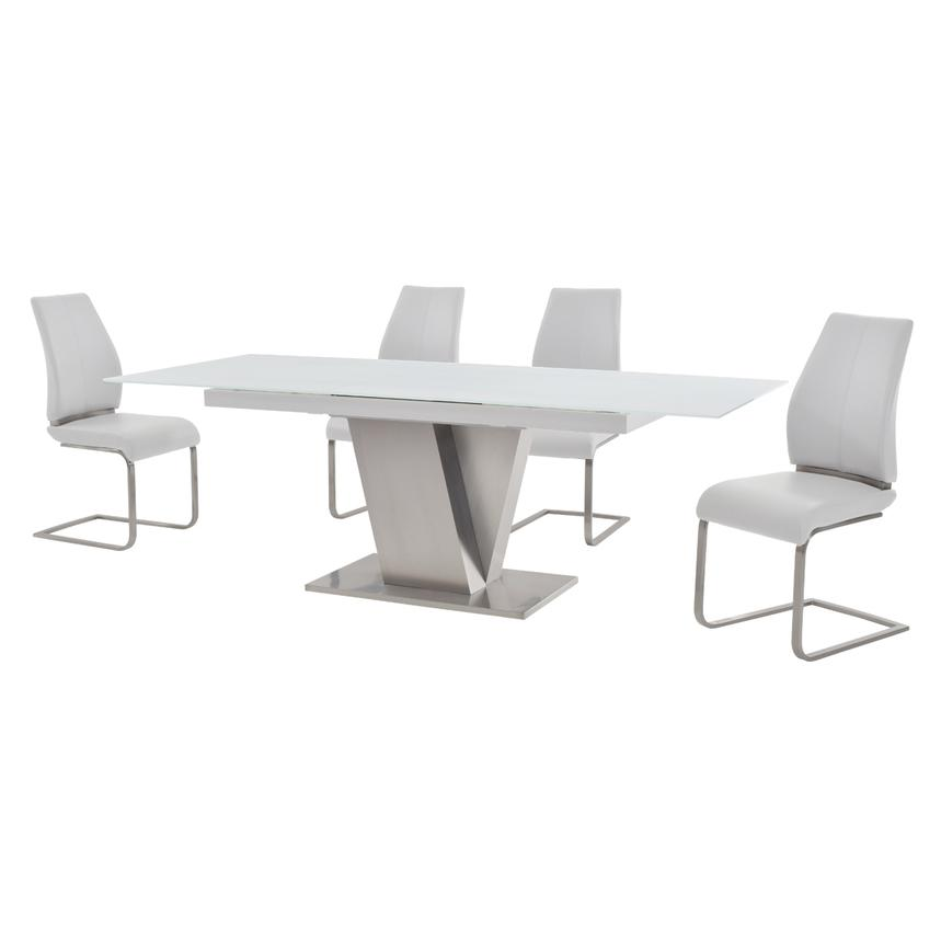 Maday White 5-Piece Formal Dining Set  alternate image, 2 of 10 images.